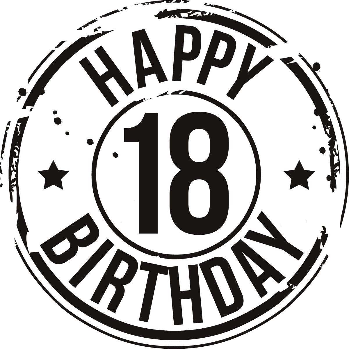 Happy 18 Birthday Clipart - Clipart Suggest