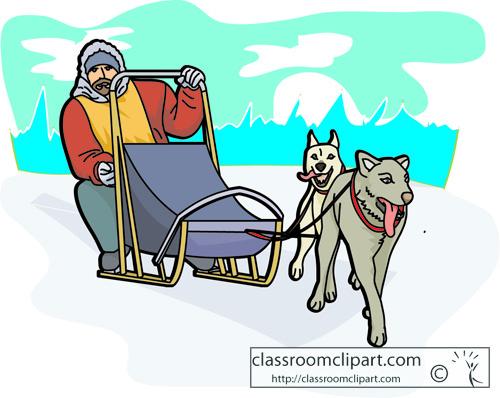 Funny Winter Cartoon Scene Stock Images RoyaltyFree