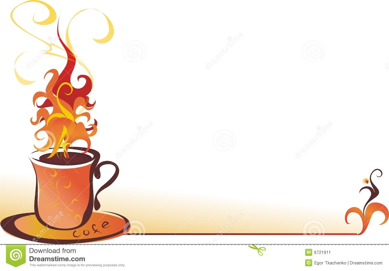 Illustration With The Image Of A Beautiful Cup Of Coffee