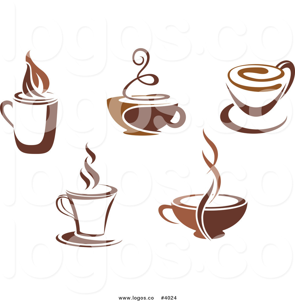 Logo Java Hot Coffee Bean Cup