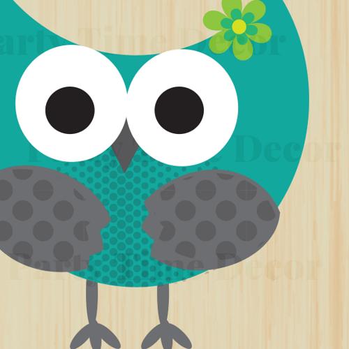 Modern Owl Clipart - Clipart Kid