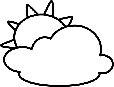 Partly Cloudy Clipart Black And White   Clipart Panda   Free Clipart