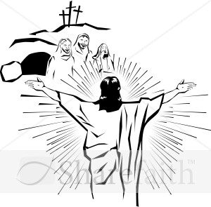 Resurrected Christ Appears To The People Easter Clipart
