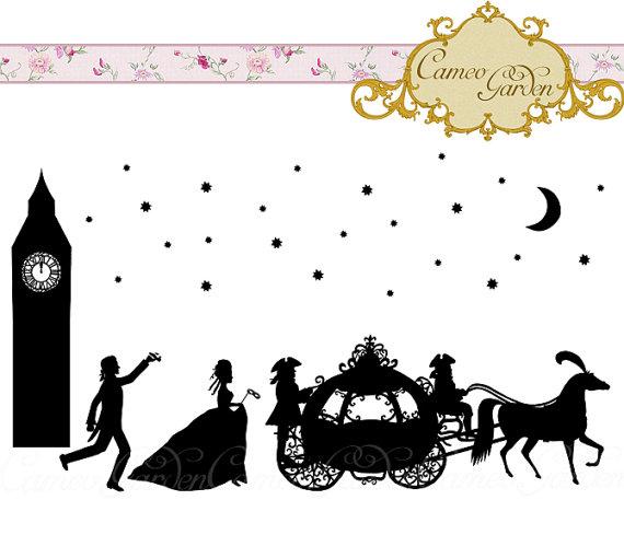 Cinderella Silhouette Clipart - Clipart Kid