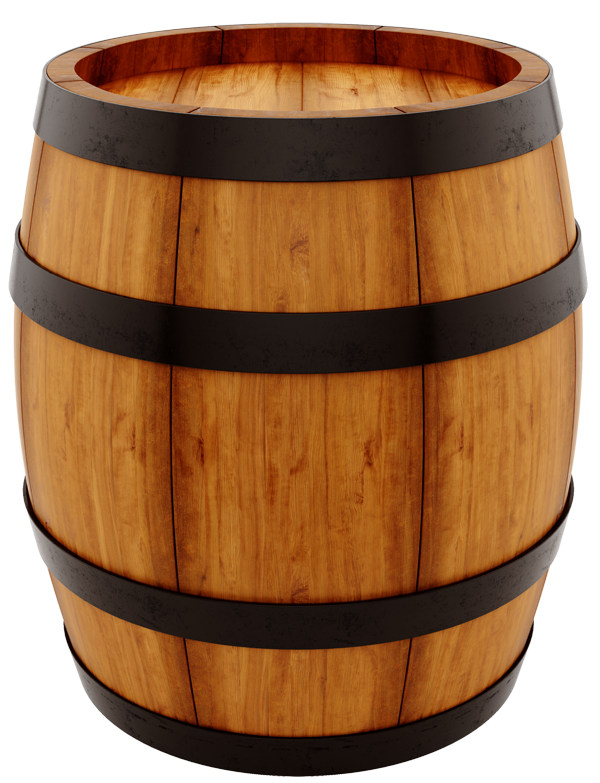 Wine Keg With A Santa Clipart - Clipart Suggest