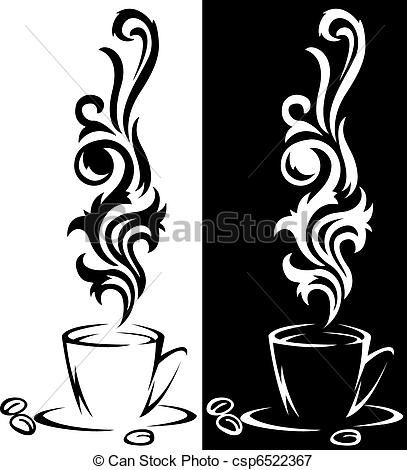 Vector   Two Cups Of Coffee   Stock Illustration Royalty Free