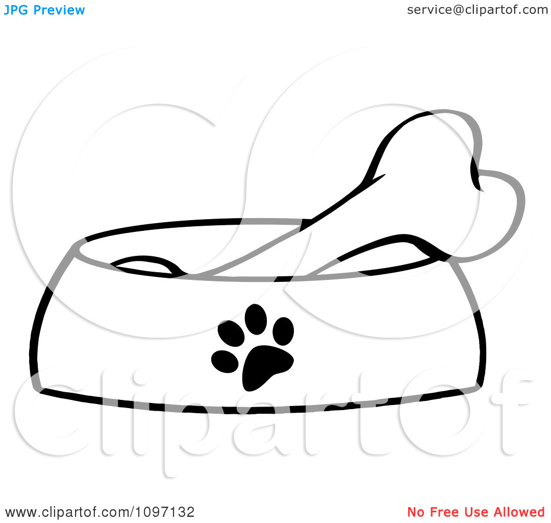 Bowl Clipart Dog Bowl With Bone Clipartclipart Bone In A Red Dog Bowl