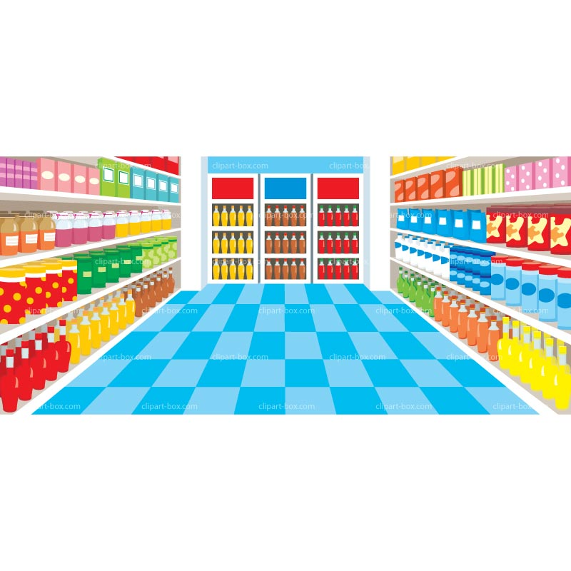 Clipart Supermarket   Royalty Free Vector Design