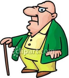 Fat Old Bald Man   Royalty Free Clipart Picture