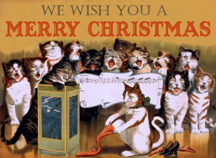 Free Vintage Clip Art   Christmas Cats   Other Assorted Goodies   The