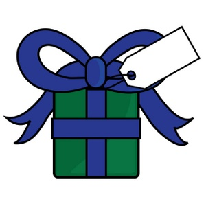 Gift Clipart Image   Present With A Gift Tag And Bow
