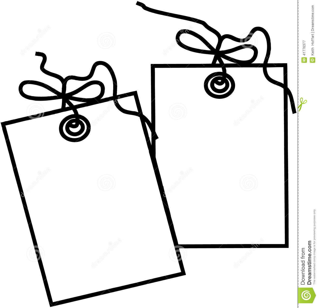 Gift Tag Template Cartoon Vector Clipart Created In Adobe Illustrator