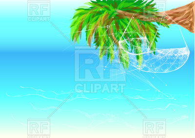 Hammock On Palm Tree 76128 Download Royalty Free Vector Clipart  Eps