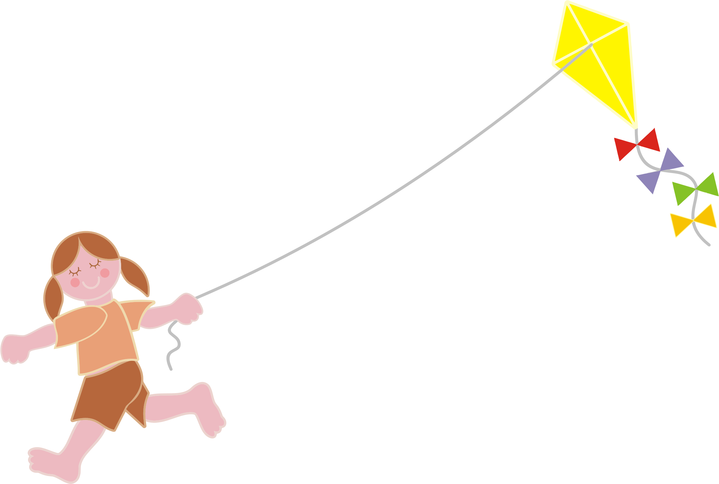 clipart kite flying - photo #49