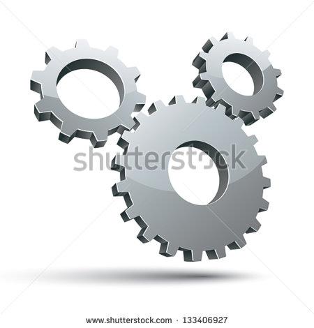 3d Gear Clipart 3 Gears 3d Vector Icon