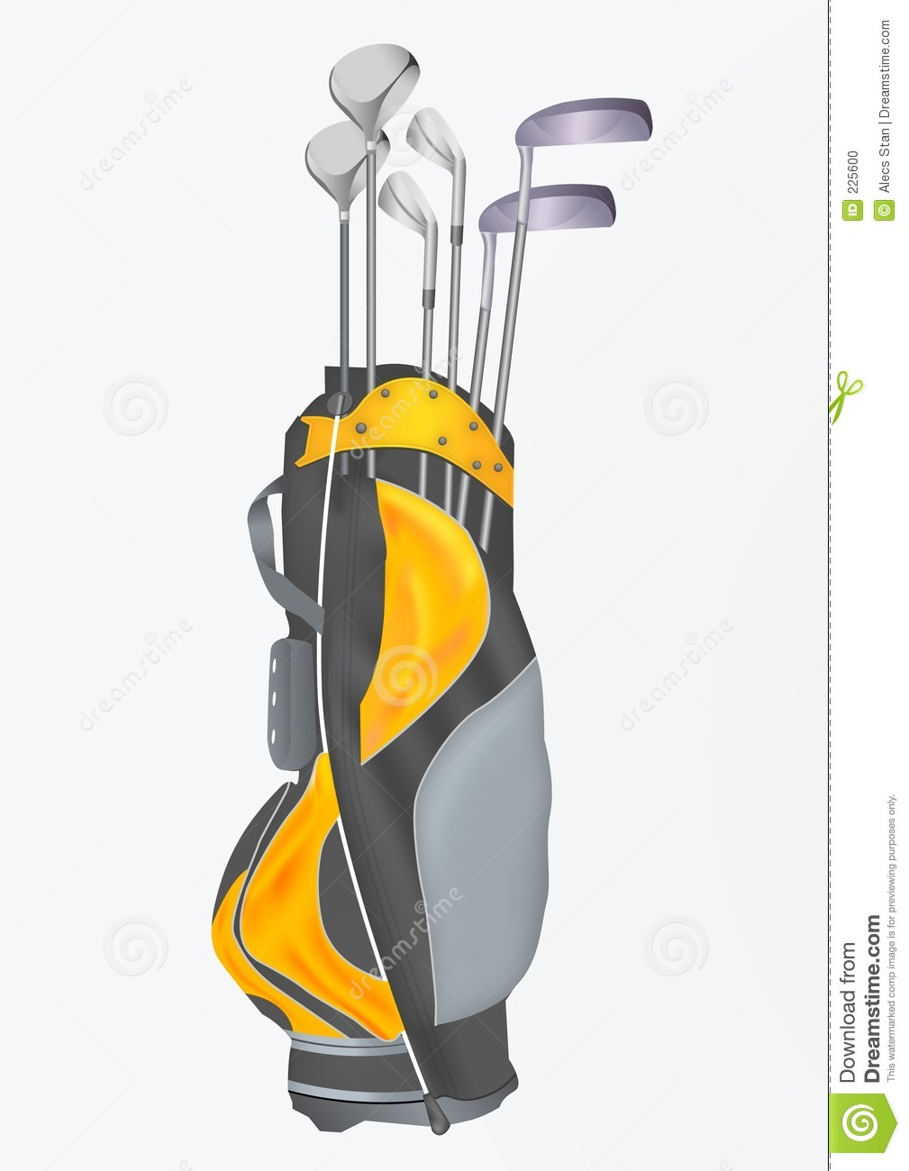 Golf Bag With Clubs Clip Art Golf Bag With Clubs