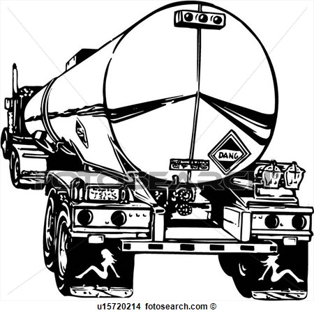 Illustration Lineart Tanker Truck Oil Gas Petroleum View Large