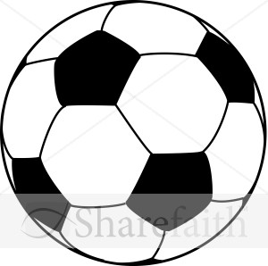Large Soccer Ball   Church Activity Clipart