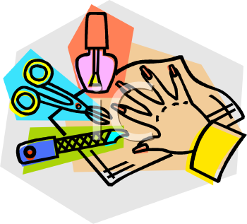Manicure Items   Royalty Free Clip Art Illustration