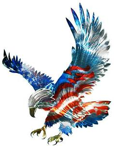 New Large American Flag Amp Bald Eagle Metal Wall Art Patriotic Decor