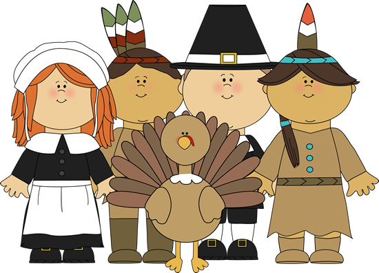 Pilgrims And Indians And Turkey Png