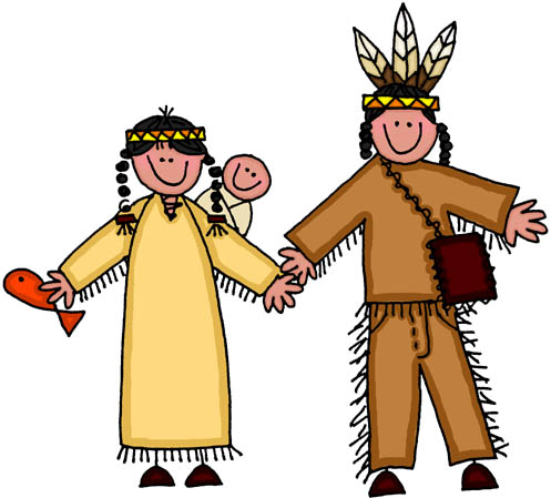 Pilgrims And Indians Clipart