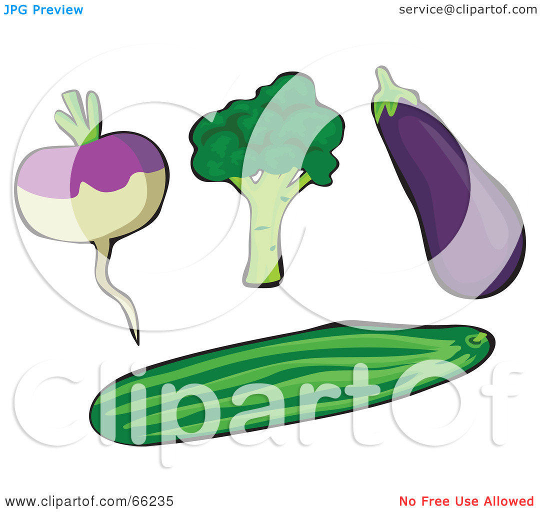 Rf  Clipart Illustration Of A Digital Collage Of Veggies  Rutabaga
