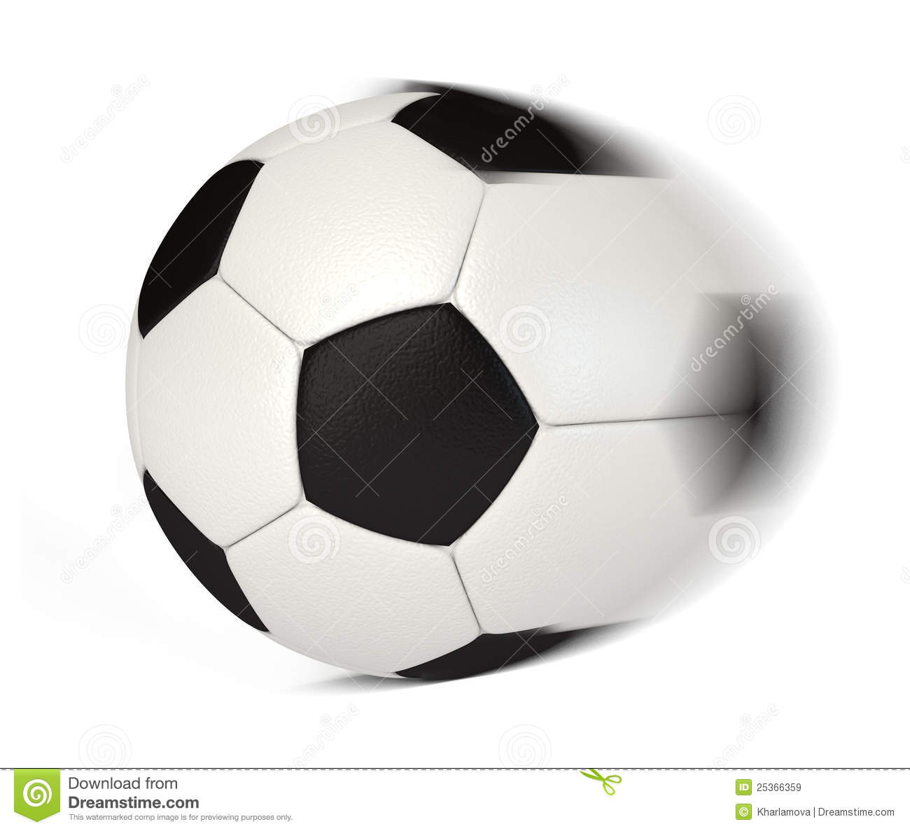 Soccer Ball In Motion Royalty Free Stock Images   Image  25366359