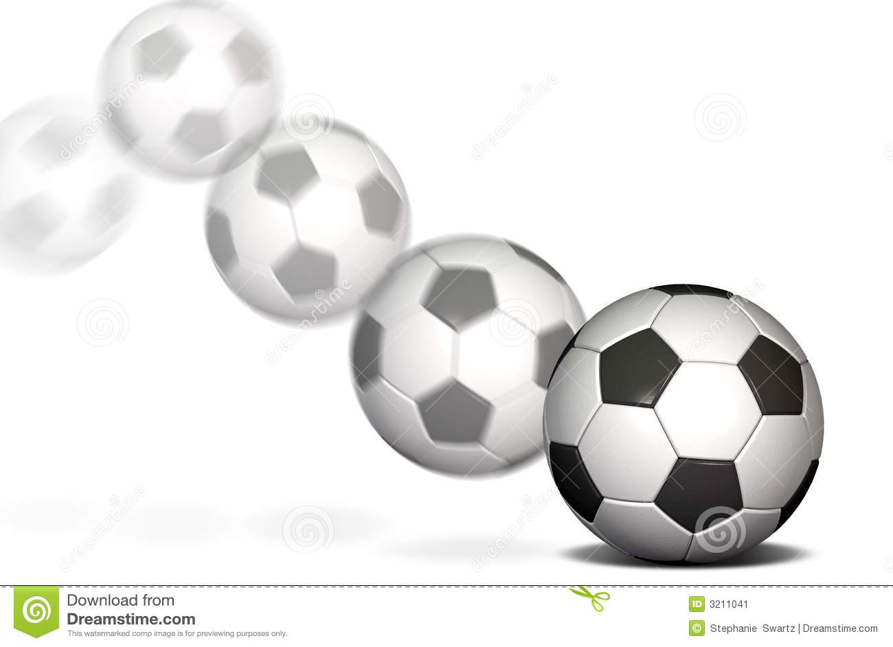 Soccer Ball On A White Background With A Motion Blur