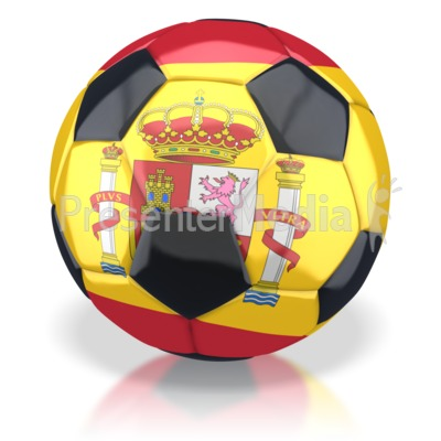 Spain Soccer Ball   Sports And Recreation   Great Clipart For