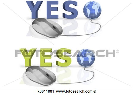 Vote Yes Clipart Clipart   Vote Yes  Fotosearch   Search Clip Art