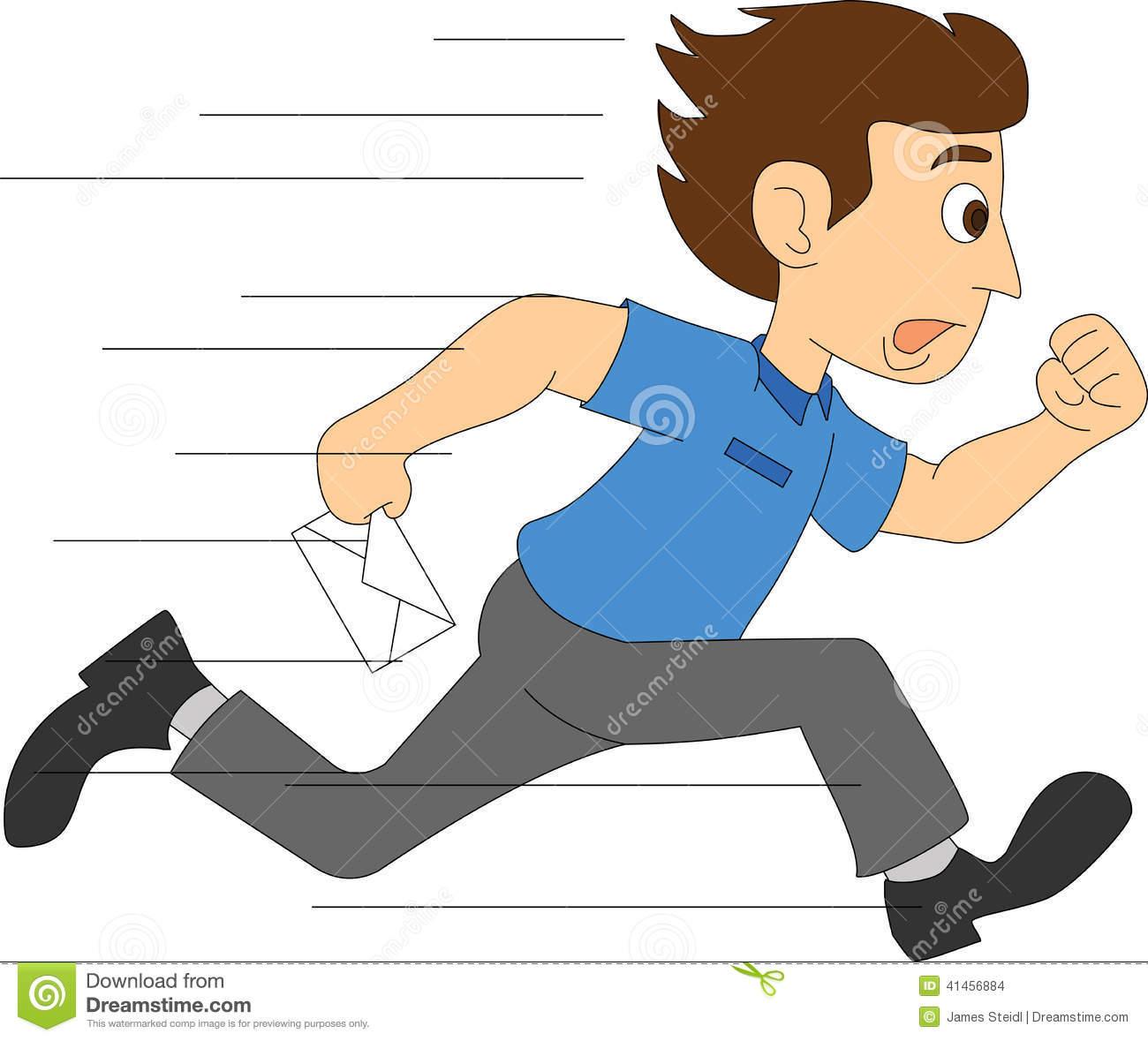 Boy running clipart