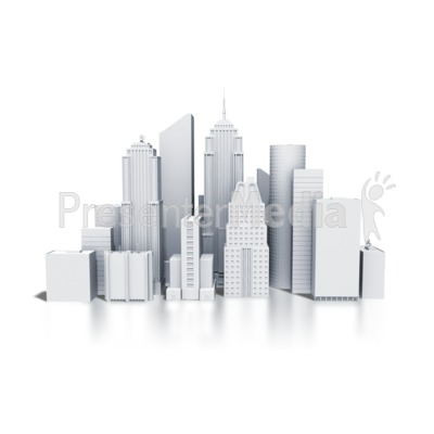Downtown Buildings Monotone   Business And Finance   Great Clipart