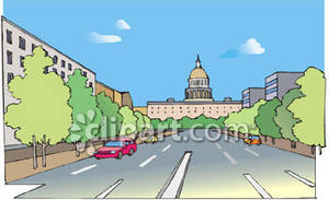 Downtown D C  Royalty Free Clipart Image