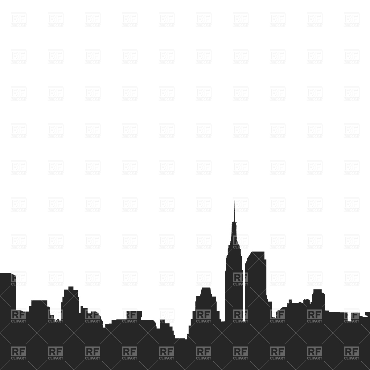 Downtown Silhouette 634 Download Royalty Free Vector Clipart  Eps