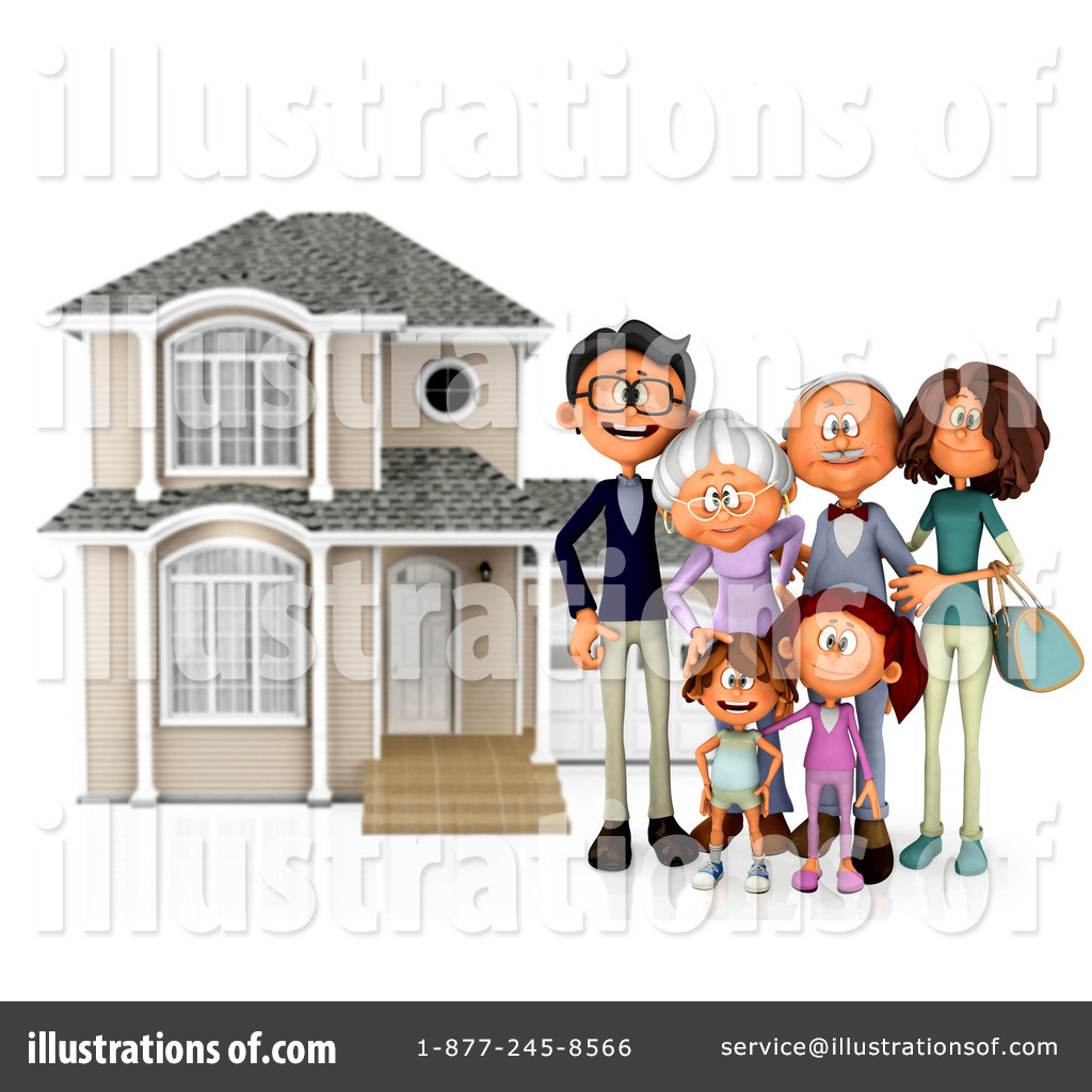 Family Clipart  1111004 By Andresr   Royalty Free  Rf  Stock