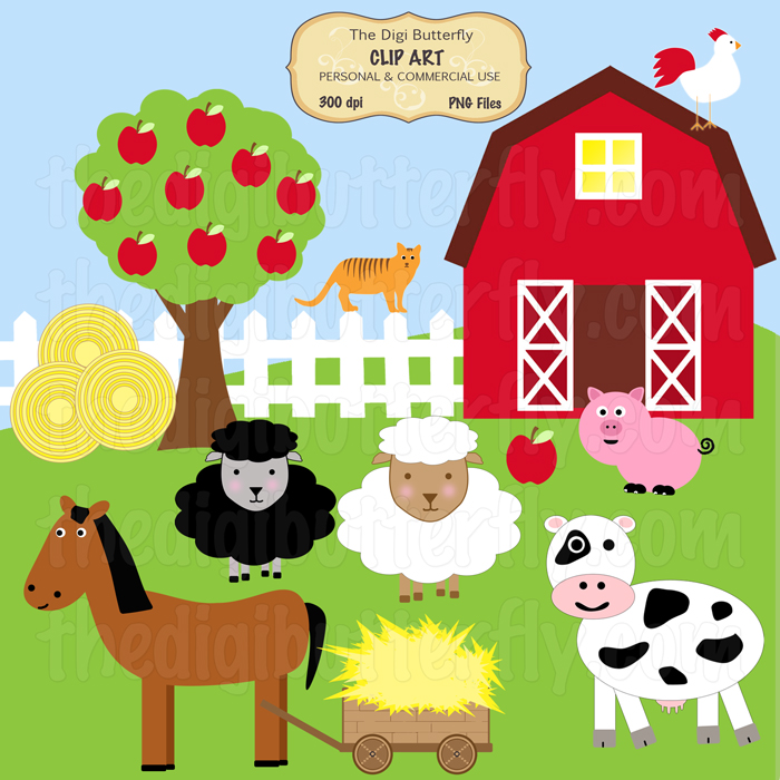 Cute Barn Clipart - Clipart Kid