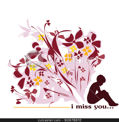 Miss You Clip Art I Miss You Stock Vector