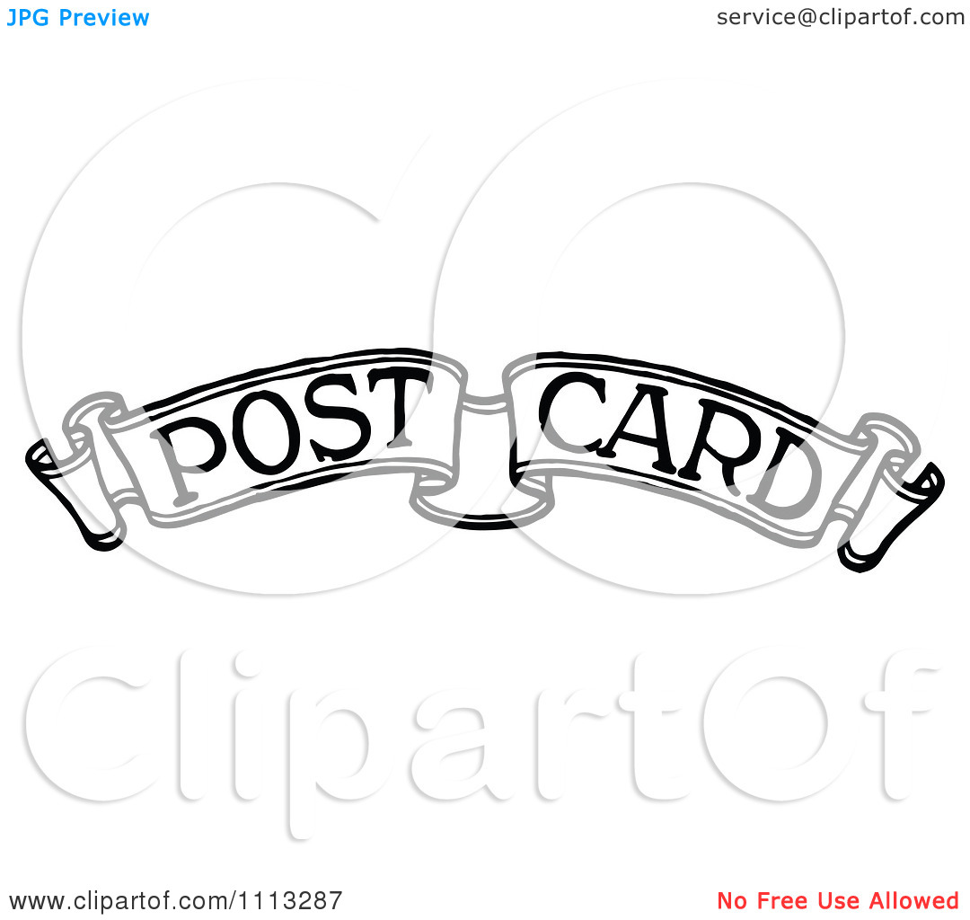 Postage Stamp Clip Art Black And White Postage Stamp Black An...