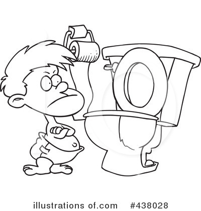 Royalty Free  Rf  Potty Training Clipart Illustration By Ron Leishman
