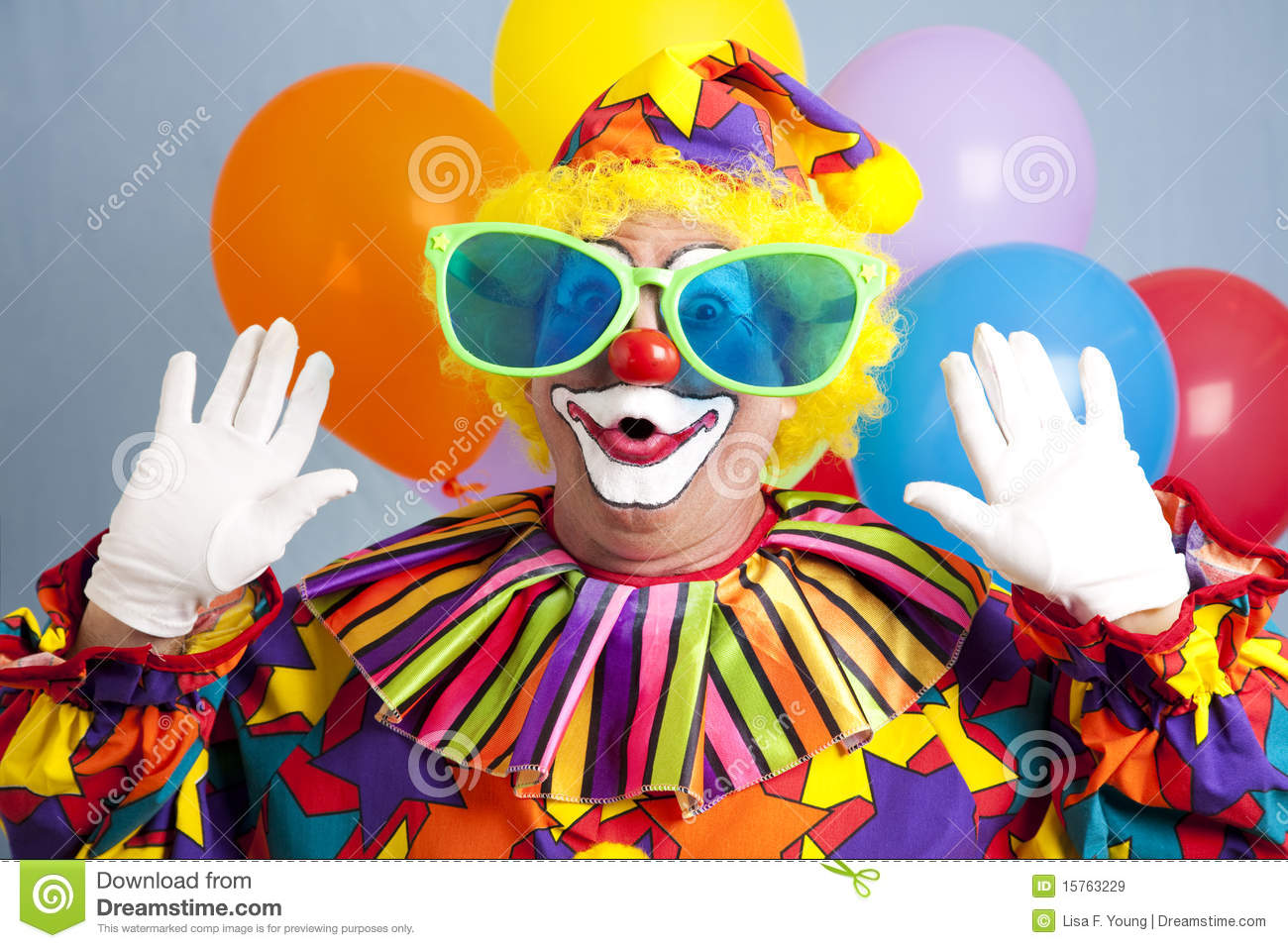 Silly Clown Surprise Royalty Free Stock Images   Image  15763229