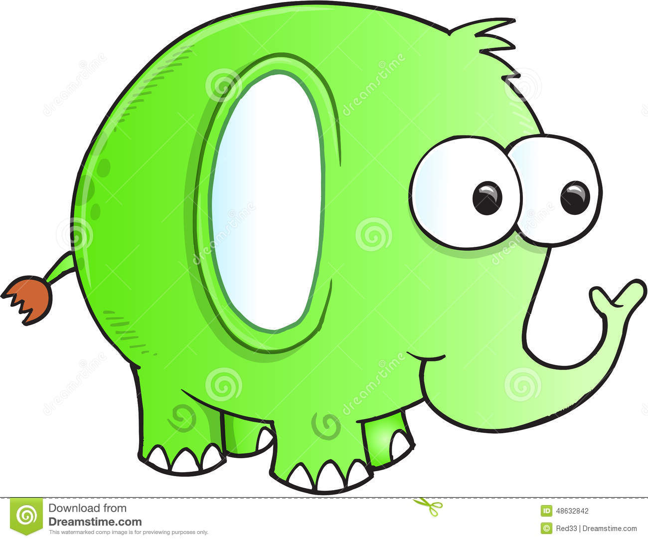 Silly Goofy Elephant Vector Stock Vector   Image  48632842
