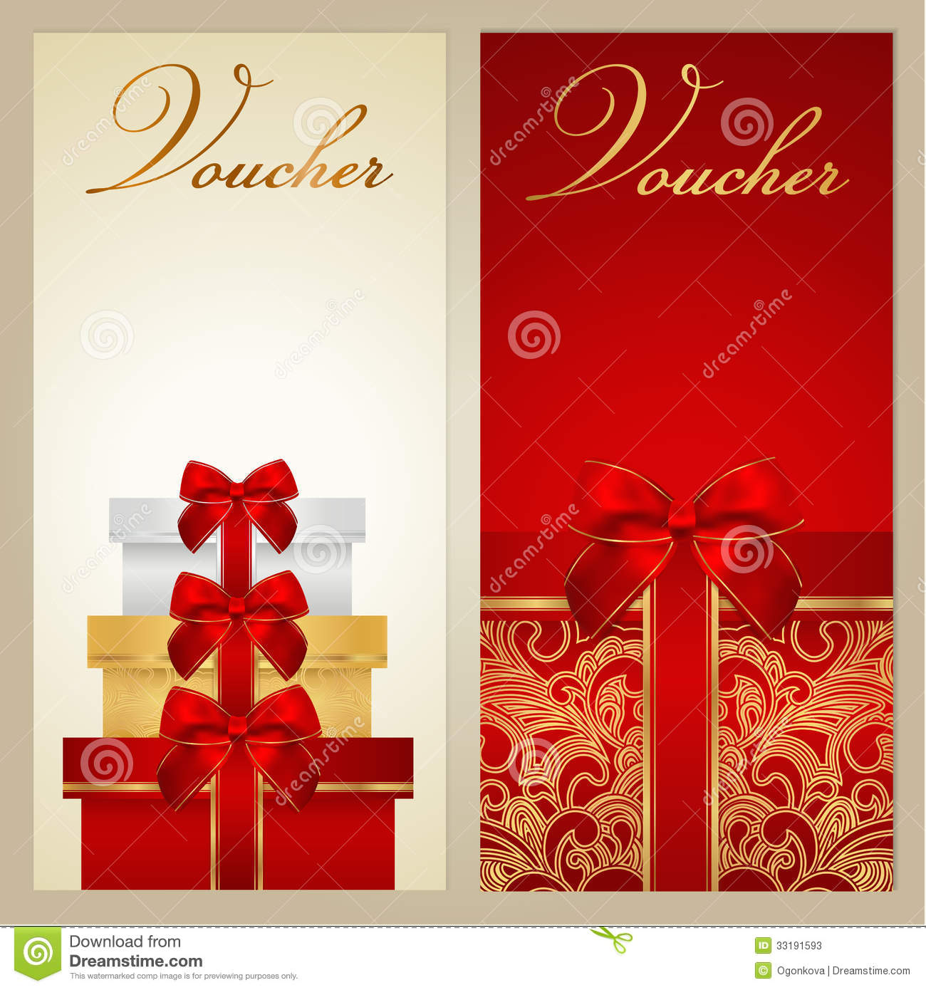 voucher gift certificate coupon template border bow ribbons voucher gift certificate coupon template border bow ribbons