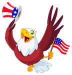 4thamericaamericananimalbackgroundbaldbirdcartooncharacterday