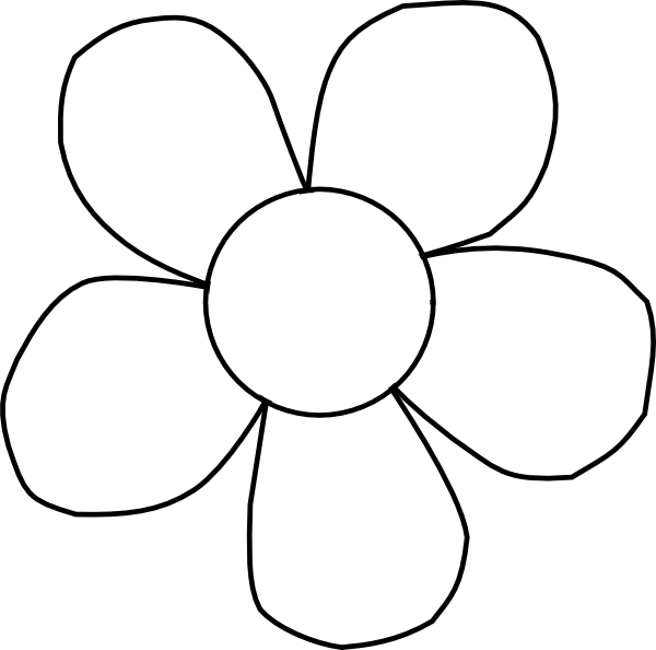 Black And White Daisy Clip Art At Clker Com   Vector Clip Art Online