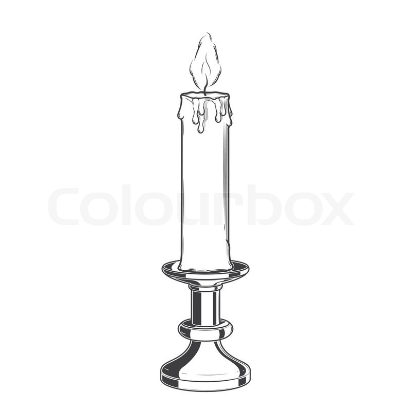 Burning Candle Black And White Clipat   New Calendar Template Site