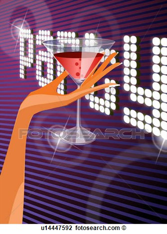 Clip Art Of Close Up Of A Woman S Hand Holding A Martini Glass