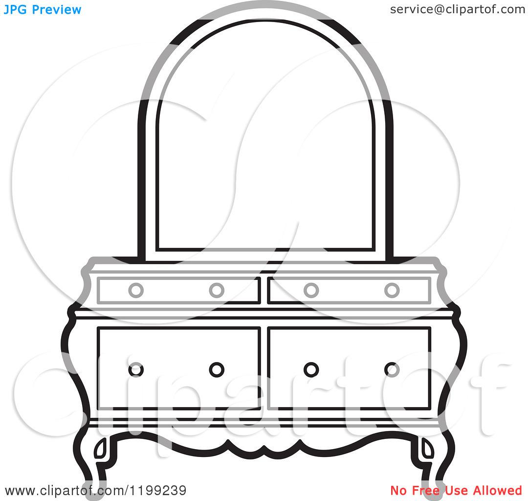clip art black and white dresser clipart clipart kid. Black Bedroom Furniture Sets. Home Design Ideas