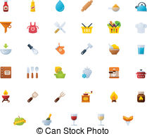 Cooking Icon Set   Set Of The Cooking Related Icons