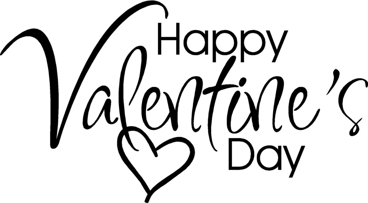 happy valentine black and white clipart clipart suggest